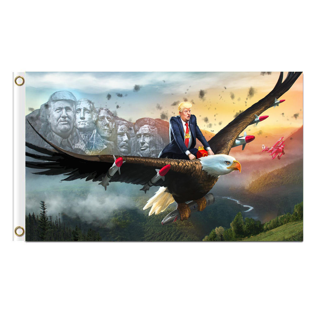 <span class=keywords><strong>TRUMP</strong></span> Never Ending Story Bandiera 3x5 FT <span class=keywords><strong>Trump</strong></span> Ride Eagle Air Force Bandiera