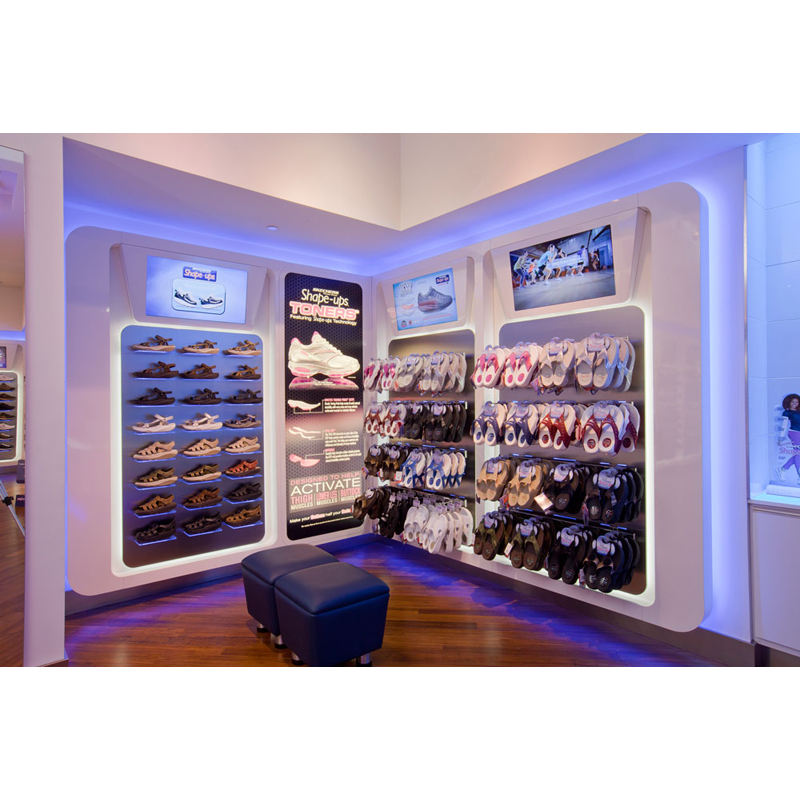 LUX Design Top Class Custom-made Shoes Shop Interior Decoration 2020,Shoes Showroom For Mart