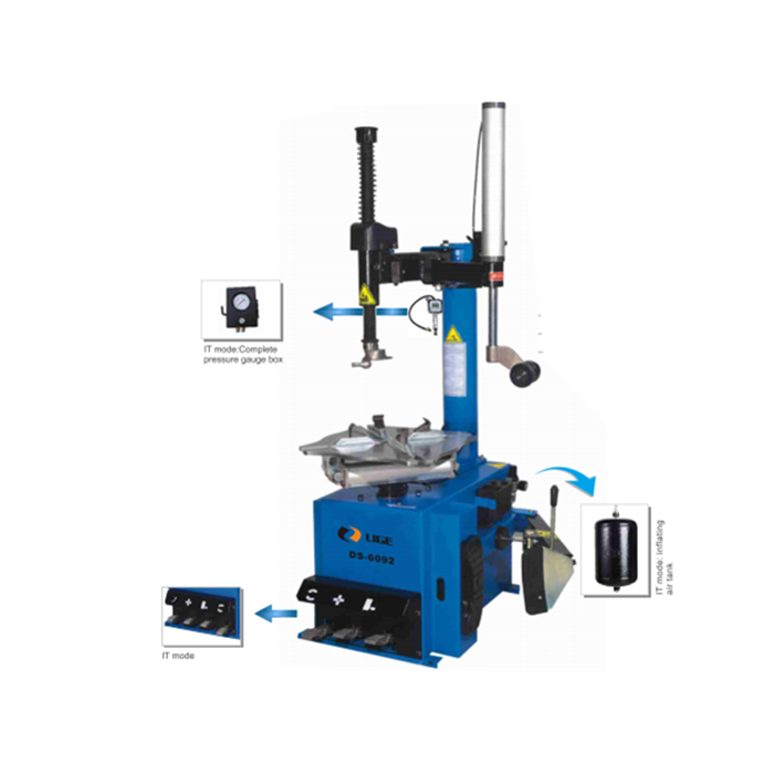 tyre changer with arm assist and air inflator high tech tyre changer