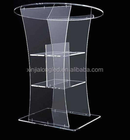 Clear Acrylic Furniture Clear Acrylic Lectern Floor Standing Church Desk