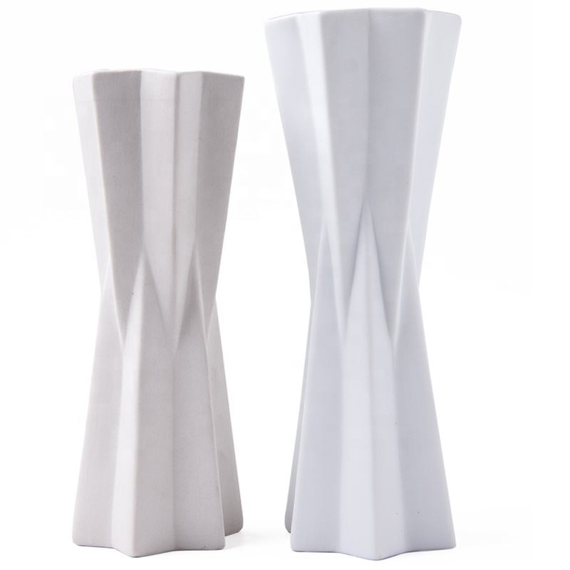2019 new arrival high quality cream white china ceramic porcelain flower vase for home decor