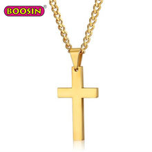 Religious jewelry custom plated gold stainless steel necklace cross pendants charmsD3015