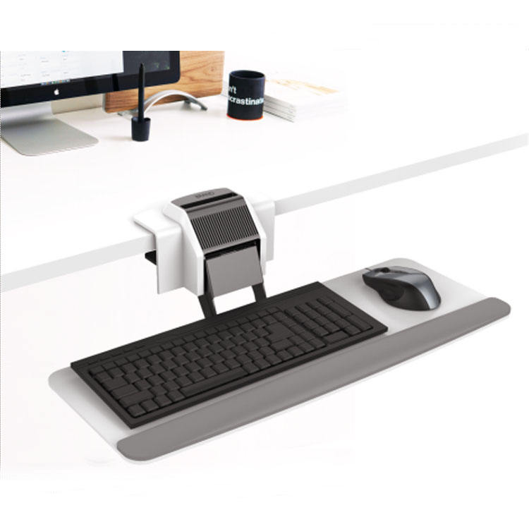 Adjustable office furniture under-desk ergonomic keyboard tray under desk