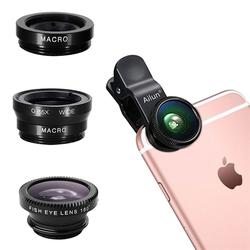 Free Samples Universal 3 in 1 Clip on Fish Eye Macro Wide Angle Mobile Phone Lens Lenses