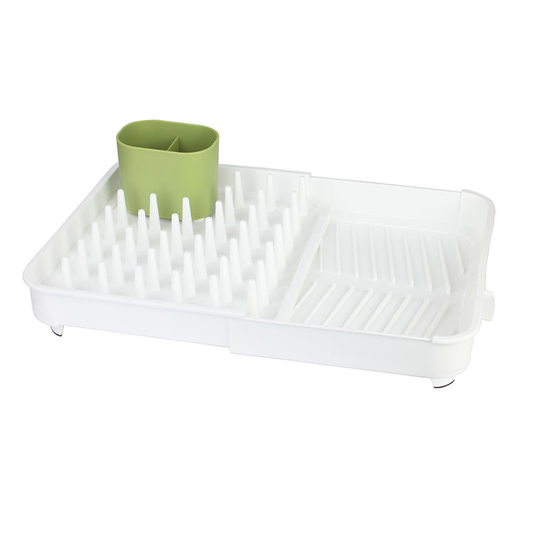 High Quality Extendable Dish Drying Rack with Drain Outlet