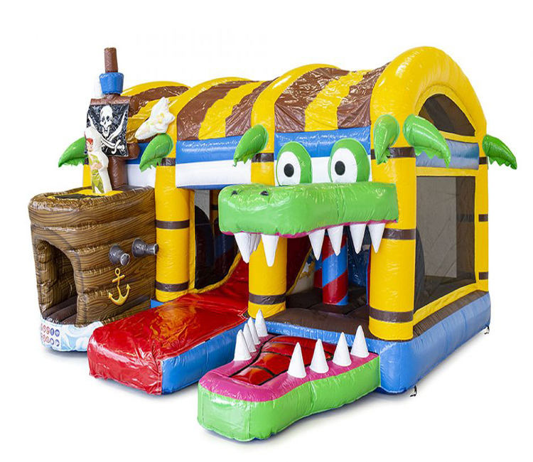 boatcommercial cheap price inflatable pvc crocodile bouncer bouncy castle bounce house with crocodile