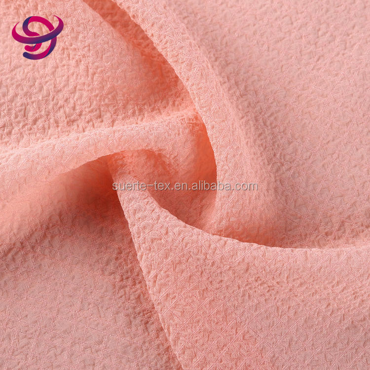 China supplier good quality fashionable crepe bulk polyester elastane fabric