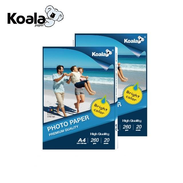 Koala factory supply 260g inkjet a4 glossy photo paper
