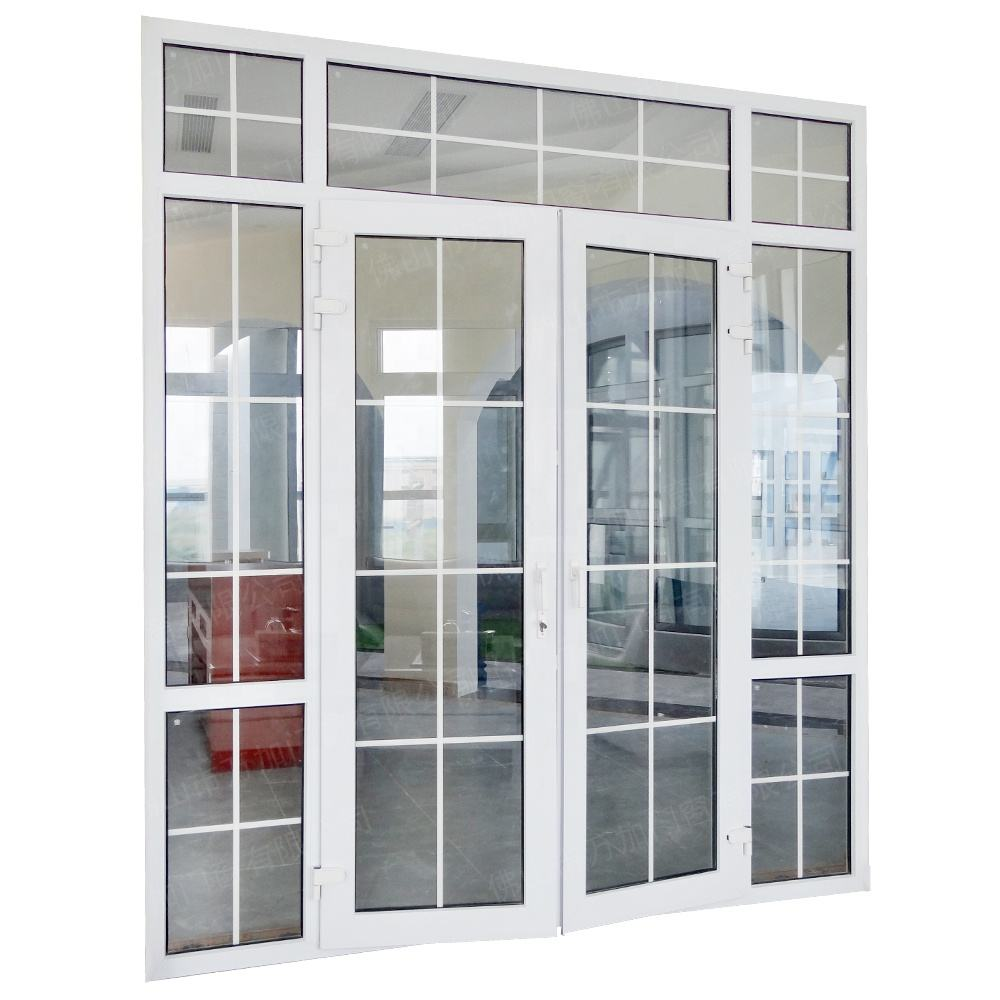 Cheap Laminated Glass UPVC Casement Door Price