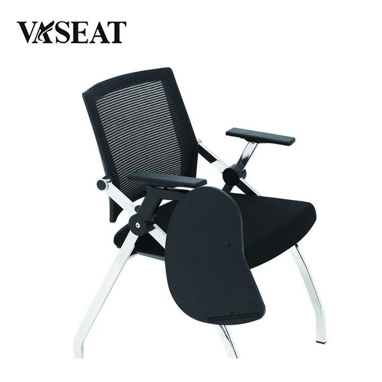 Salle de conférence chaise étudiant chaise de formation les <span class=keywords><strong>chaises</strong></span> polyvalentes avec pavé d'écriture