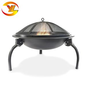 Modern Camping Round Portable Metal Fire Pit
