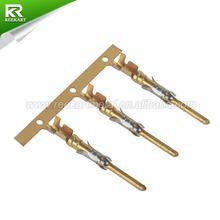 1-66098-8 Gold plating double car accessories crimp wire terminal pin