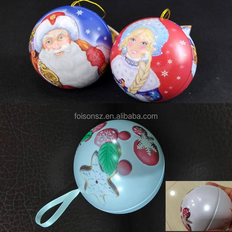 custom made christmas decor bauble ball tin ornaments