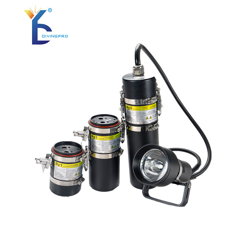 High Efficiency underwater hid 5000LM dive canister light