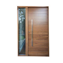 Modern plain Solid Wood main Door/100% solid oak wood door models