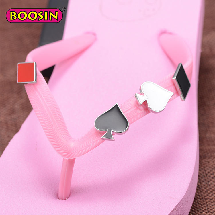 Fashion Metal Flip Flops Slippers Accessories, Shoe Clips for Flip Flops