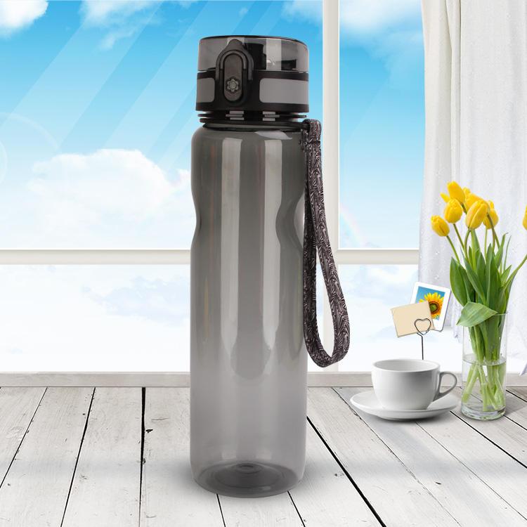 غير سامة تريتان bpa الحرة الرياضة زجاجة المياه البلاستيكية المصنعة مع w/بنقرة واحدة مفتوحة