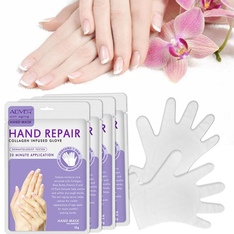Nourishing Hand Mask Sleep, Water-Supplementing, Desalination, Fine Ribbon and Crack-Proof Gloves