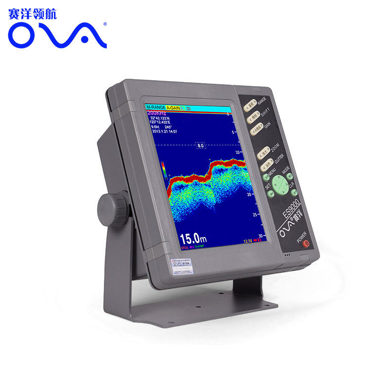 10 Inch Depth Finder 600~800w Marine Echo Sounder with ultrasonic transducer