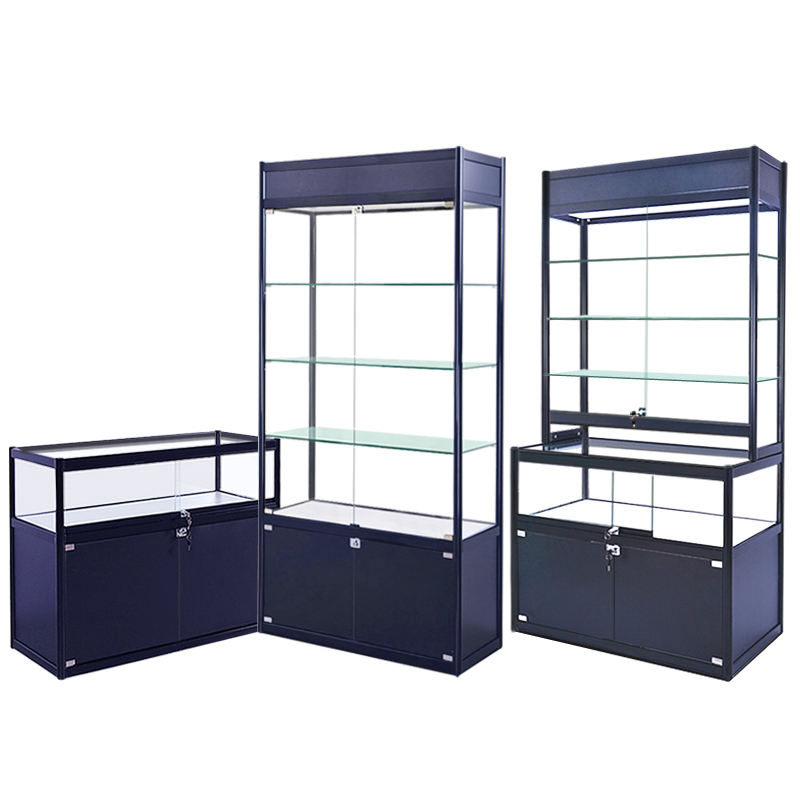 coffee shop furniture /glass display cabinet for coffee shop