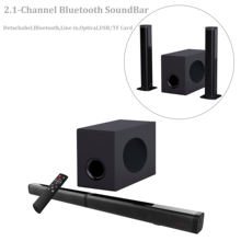 Sound Bar with Subwoofer, Samtronic Detachable Soundbar for TVS 37 Inch 100W 2.1 Channel Soundbar Speakers Wireless & Wired