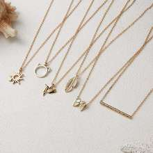 Fashion Little Cat Bird Gold Plated Cute Young Leafs Sun Pendant Girls Wish Card Necklace Jewelry
