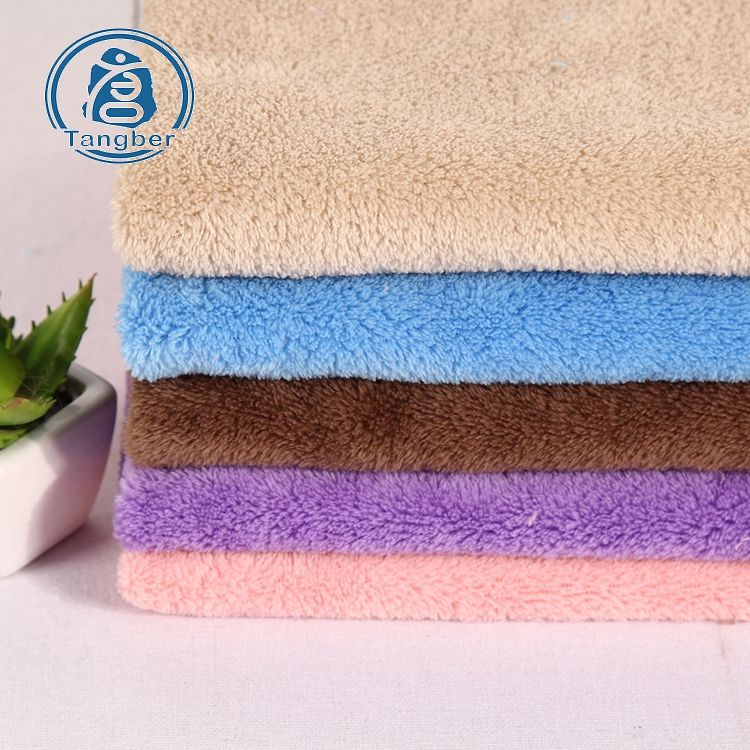 Knit Blanket Long Pile Sherpa 100% Polyester Coral Fleece Fabric