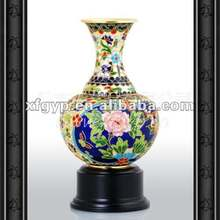 Antique cloisonne enamel trophy cup