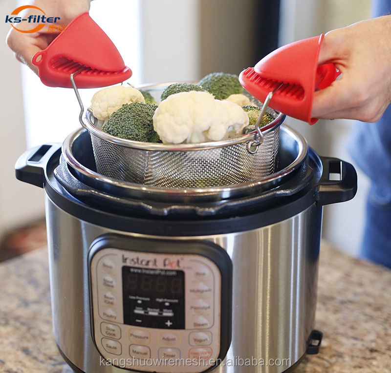 Kangshuo Pressure Cooker Instant Pot 6Qt 8Qt Accessories Stainless Steel Mini Steamer Basket