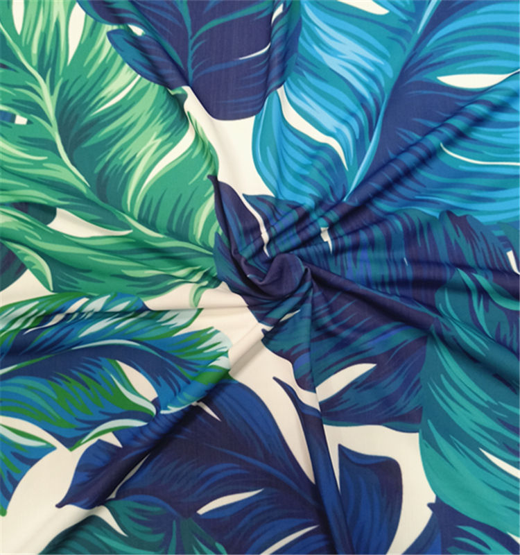 Printed nylon spandex lycra swimwear fabric for swimsuit