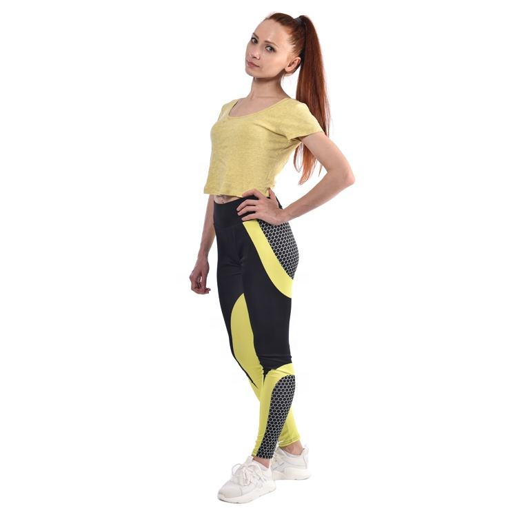 Custom fashion pants sport short slimming pants yoga