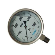 "4"" 100mm high quality all stainless steel bottom type pressure gauge"