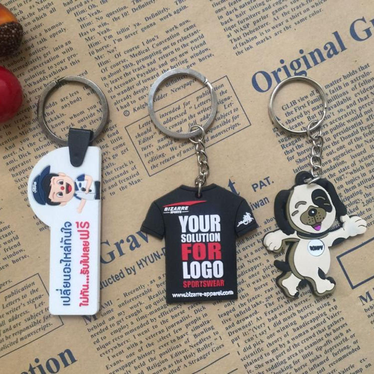 For Promotion Various Printed Key Chain, Rubber Key Tag, Rubber Key Hanger
