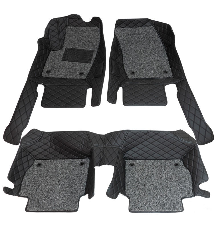 Good value for money Leather / pvc non-toxic non-slip universal hand sewing 3d diamond car mat 5d