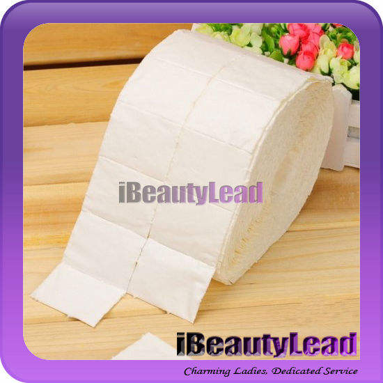 500pcs Lint free nail wipe nail polish remover wipes cotton pads