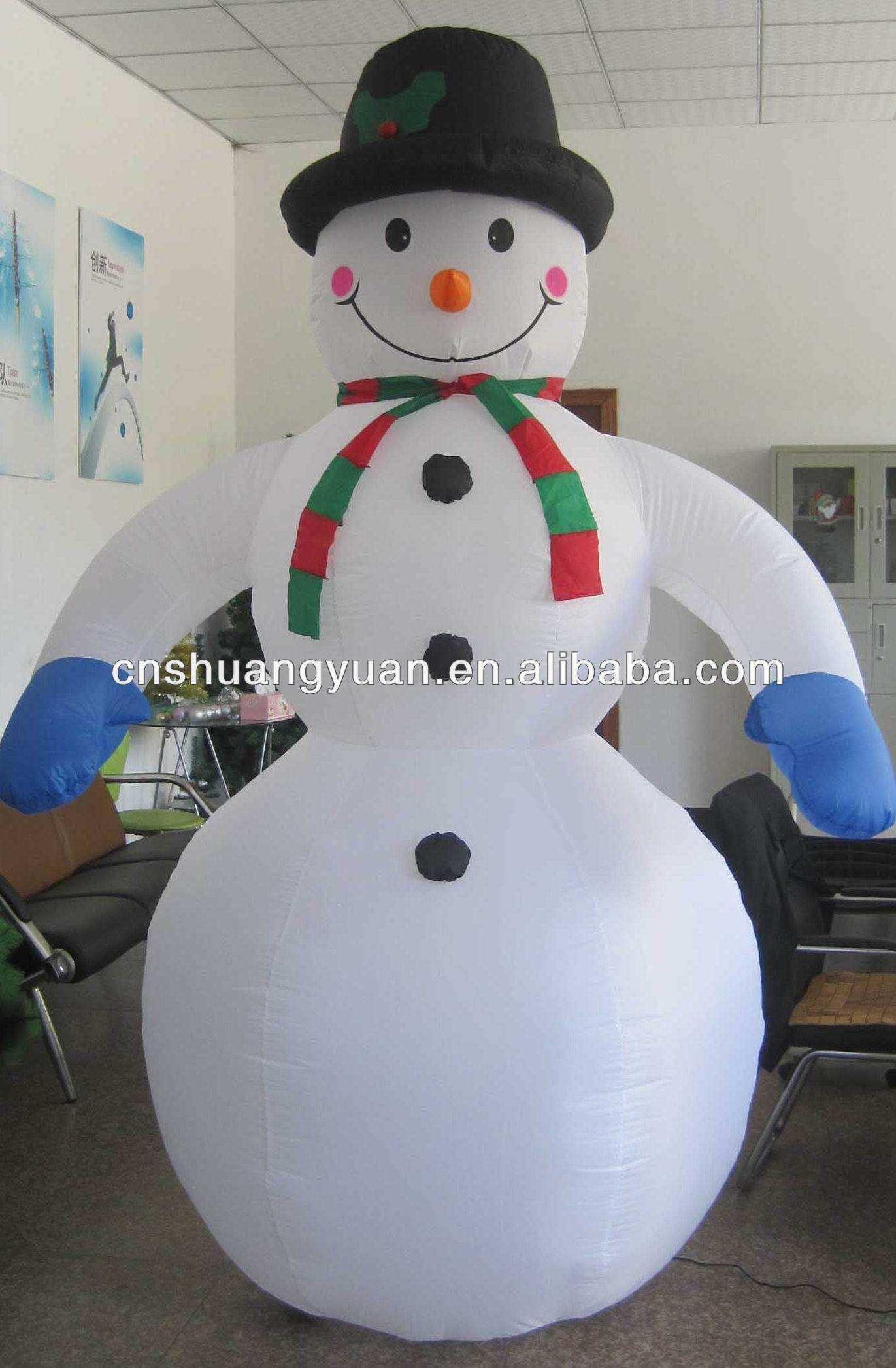 270cm высокое качество большой надувной снеговик