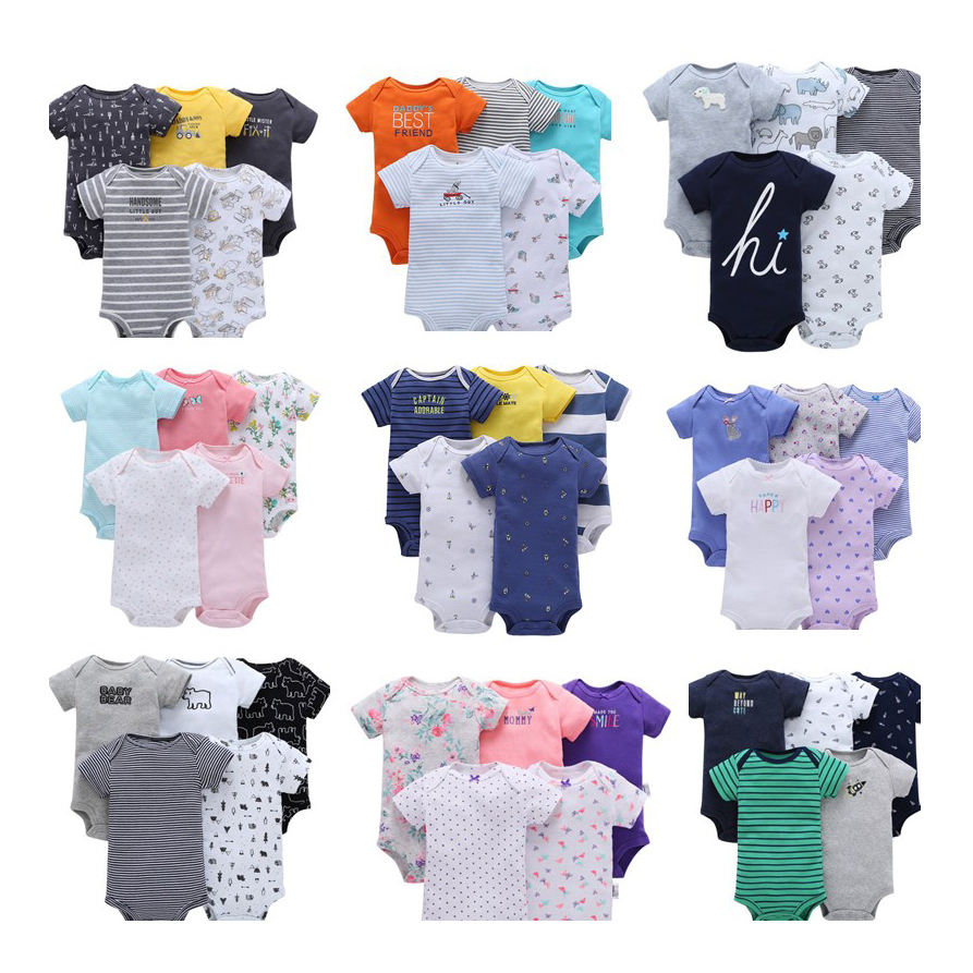 Boys' Baby Newborn Infant Bodysuit Baby Clothes Romper Boy 100 Cotton