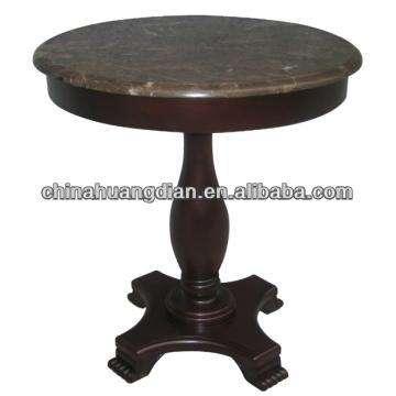 mesa de centro <span class=keywords><strong>superior</strong></span> pequeño mármol hdct237 con patas de madera