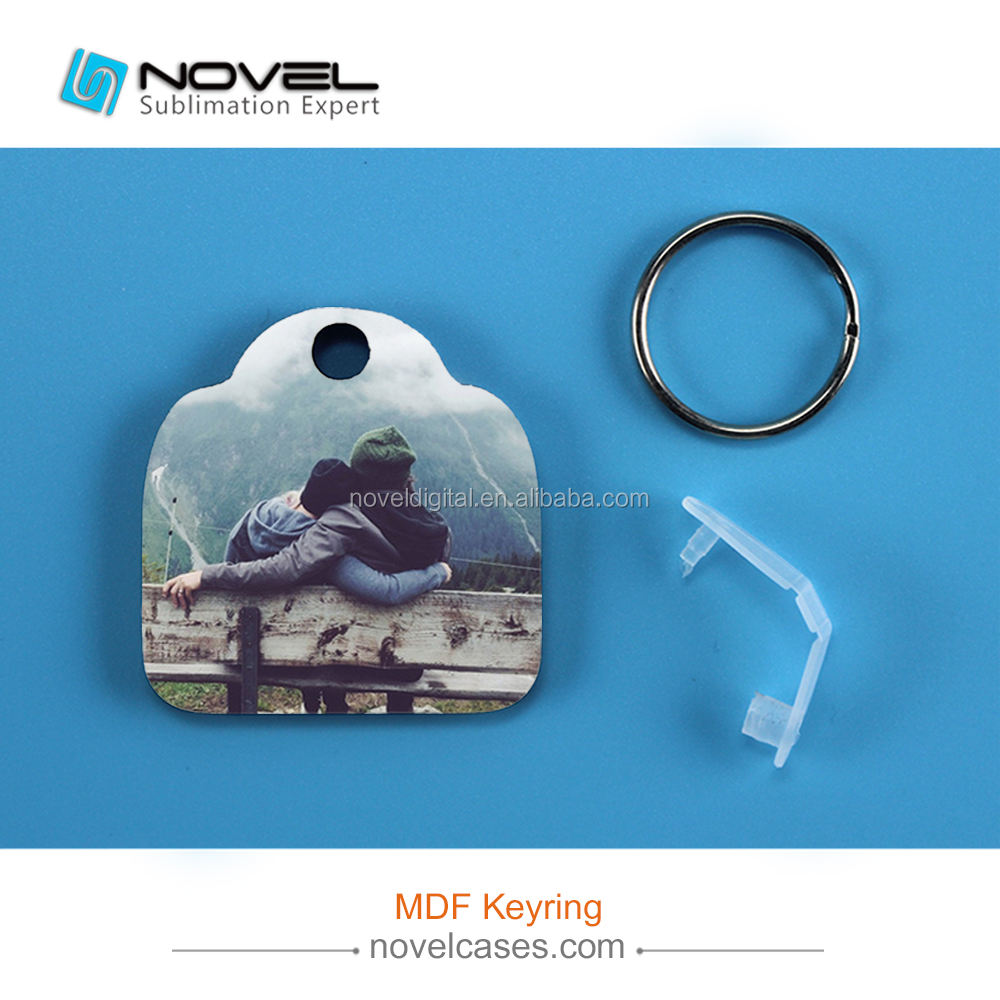 Personalized Sublimation keyring MDF keychain Camera Shaped