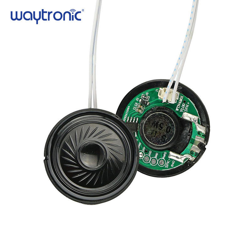 Eletrônica distintivo Mini Incorporado Chip de Placa PCB Montado Speaker Voz