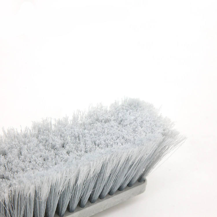 Iron Handle Plastic Fiber Floor Cleaning Brush Push