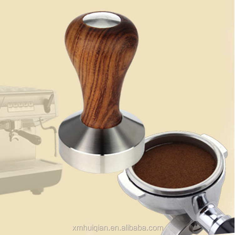 Alibaba новых продуктов деревянной ручкой стали кофе вскрытия 58 мм