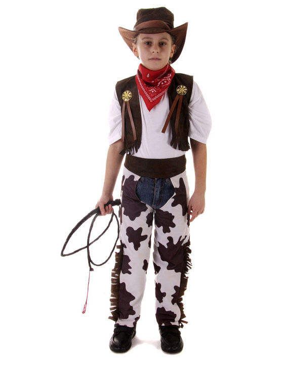 Boys Cowboys And Indians Western Fancy Dress Costume Wild West Outfit Size 3-10