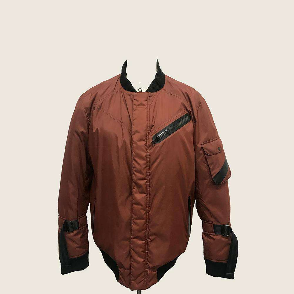mens oem odm factory winter 2019 padded coats bordeaux color ribbed collar hem custom winter cotton padded men bomber jacket