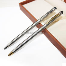 JD-L40 Cross slim metal hotel pens Branded logo ball pen stainless steel stylus ballpoint pen