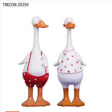 The Nordic country wind resin handicraft decoration Decor furnishings lovely couple duck