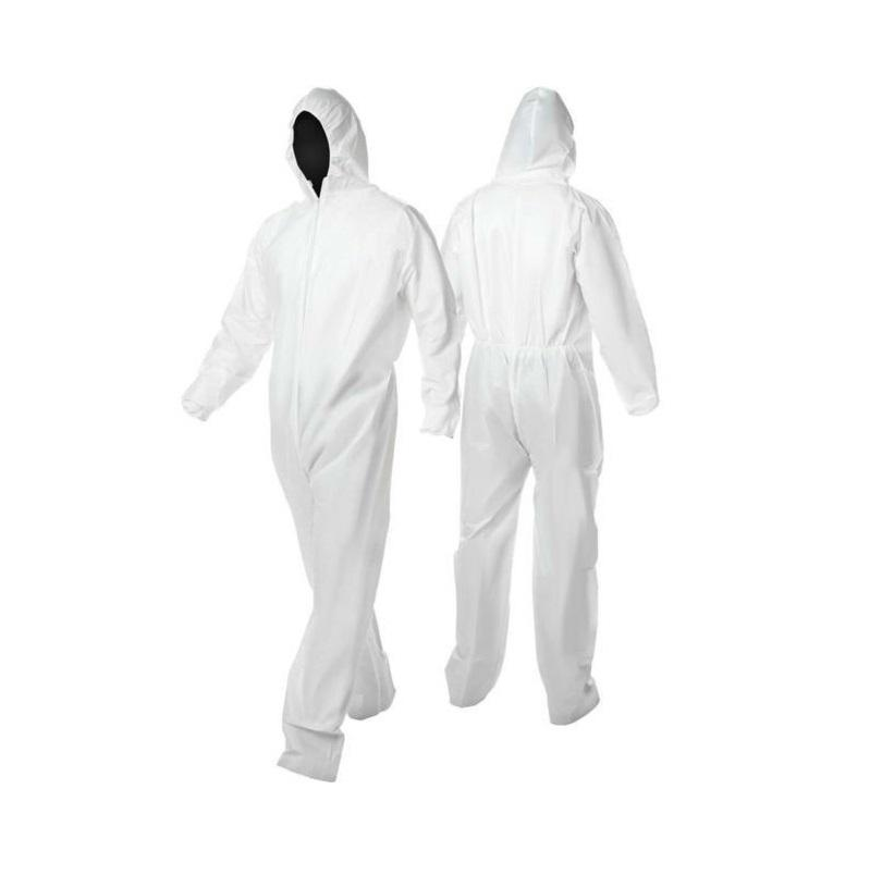 Unisex Disposable Microporous Coverall Waterproof White Painters Coveralls