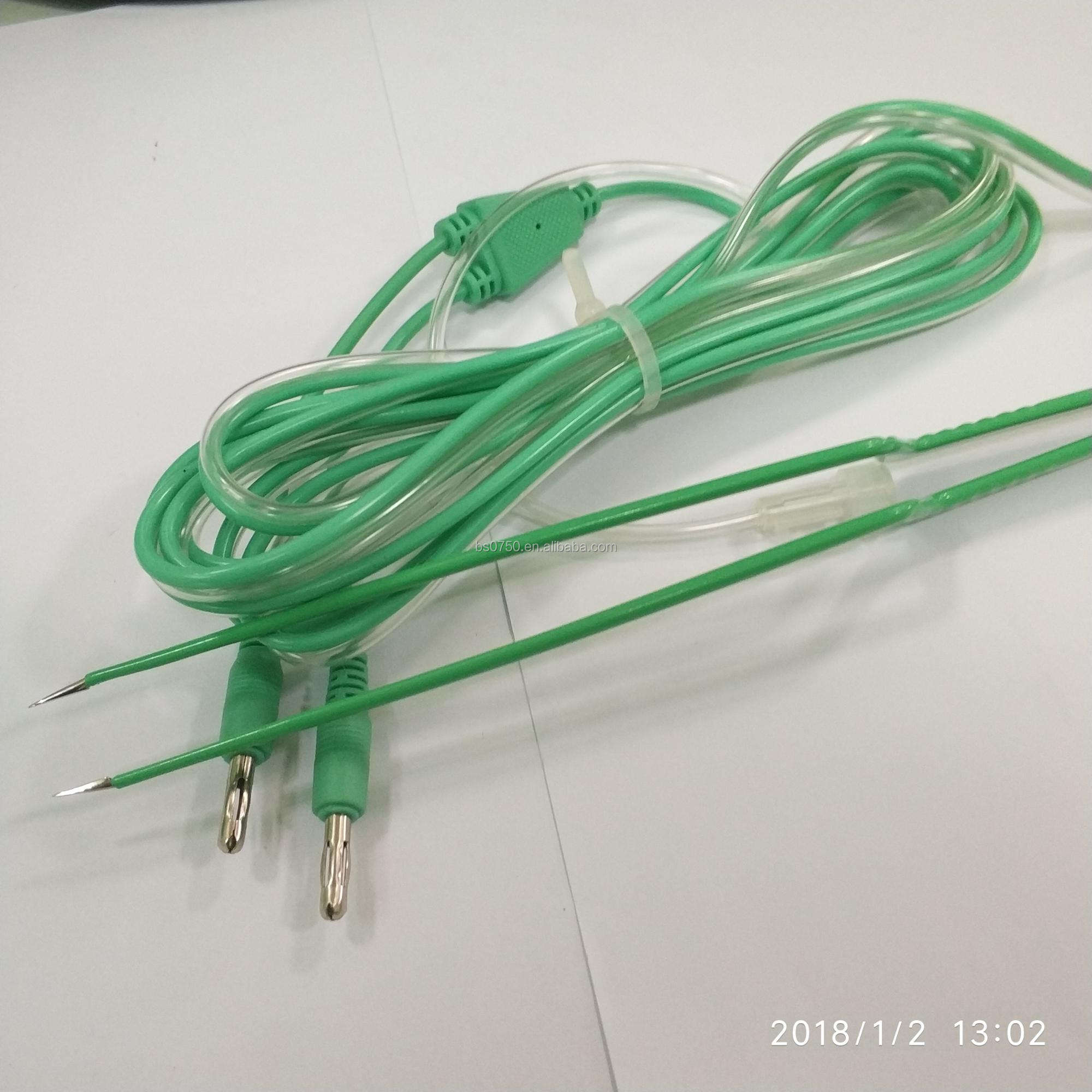 CE Certified OBS Electrosurgical (ESU) Reusable Cable for Bipolar Forceps