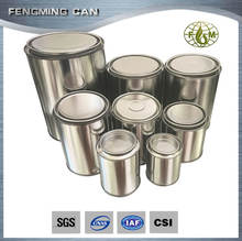 100ml-2Lround empty metal tin can with lever lid paint and adhesive packing bottle
