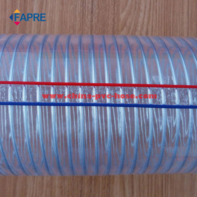 China Manufacturer PVC/plastic flexible steel wire reinforced hose/pipe/tube/tubing